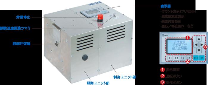 卓上型耐久試験機/TCDM111LH(回転往復ユニット)