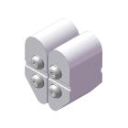 屈曲試験/クランプ面板仕様(2辺曲げRブロック仕様)(試験治具)