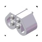 屈曲試験/クランプ面板仕様(1辺曲げRブロック仕様)(試験治具)