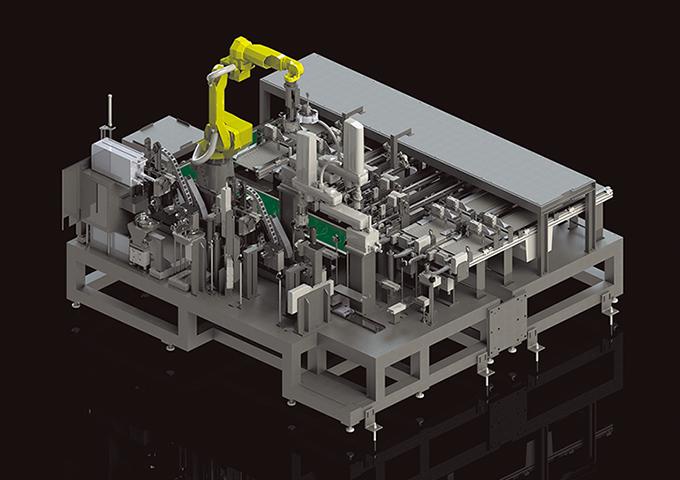 エンジン部品の自動組立装置